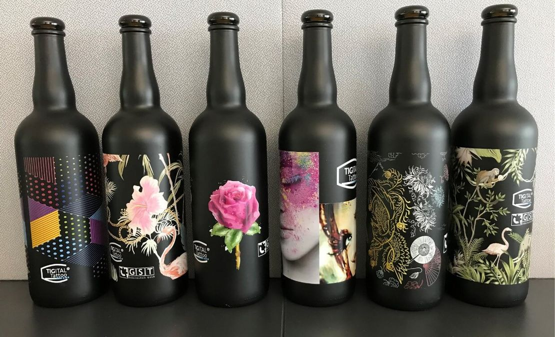 Print on glass bottles